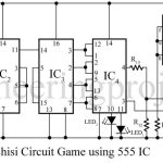 Pachisi Circuit Game using 555 IC
