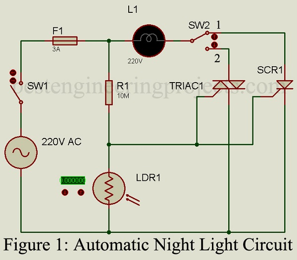 Automatic Night Lamp Circuit - Best Engineering Projects