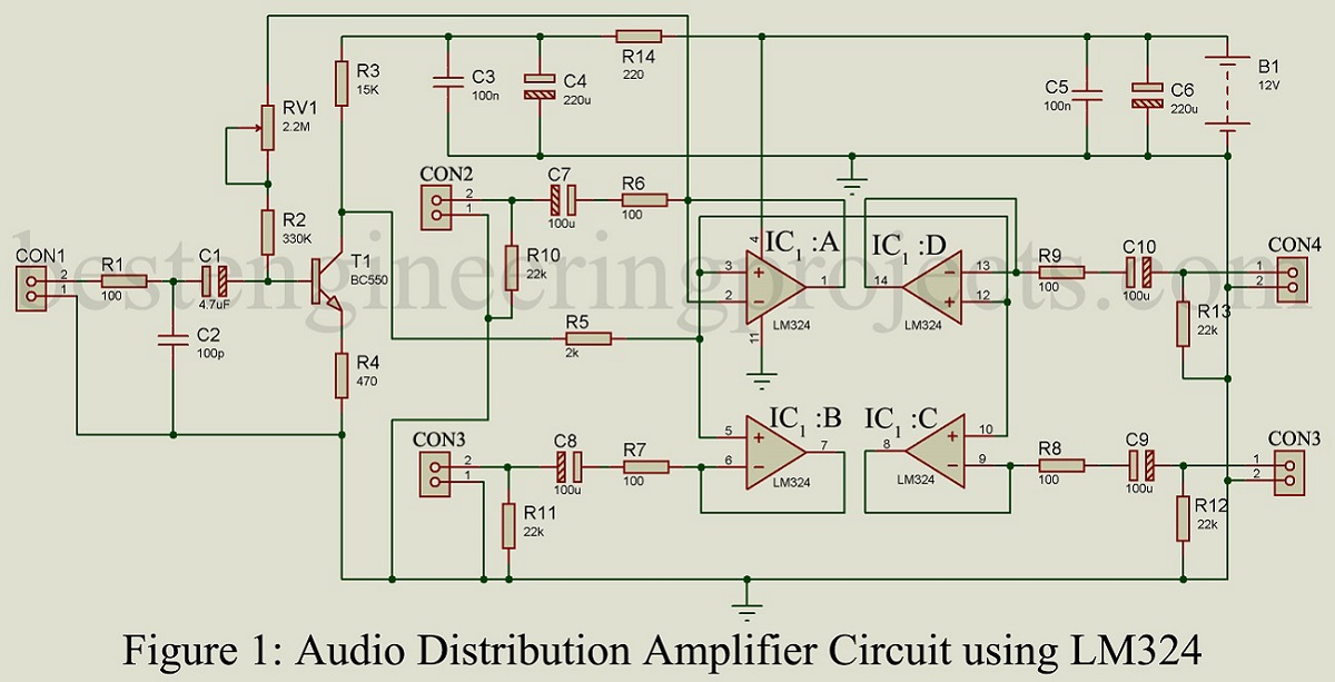 Opamp Circuit Using Lm224 Electronic Design