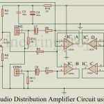 Audio Distribution Amplifier Circuit using LM324