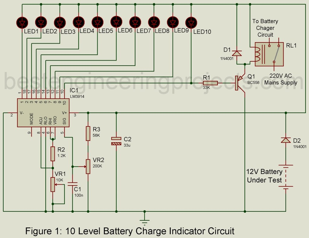 10 level battery charge indicator