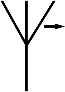 symbol of horizontally polarized antenna