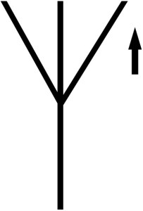 symbol of vertically polarized antenna