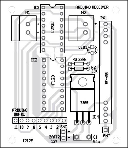 component side receiver unit pcb