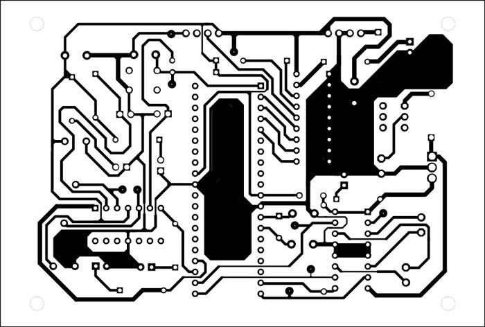 solder side pcb diagram of receiver circuit