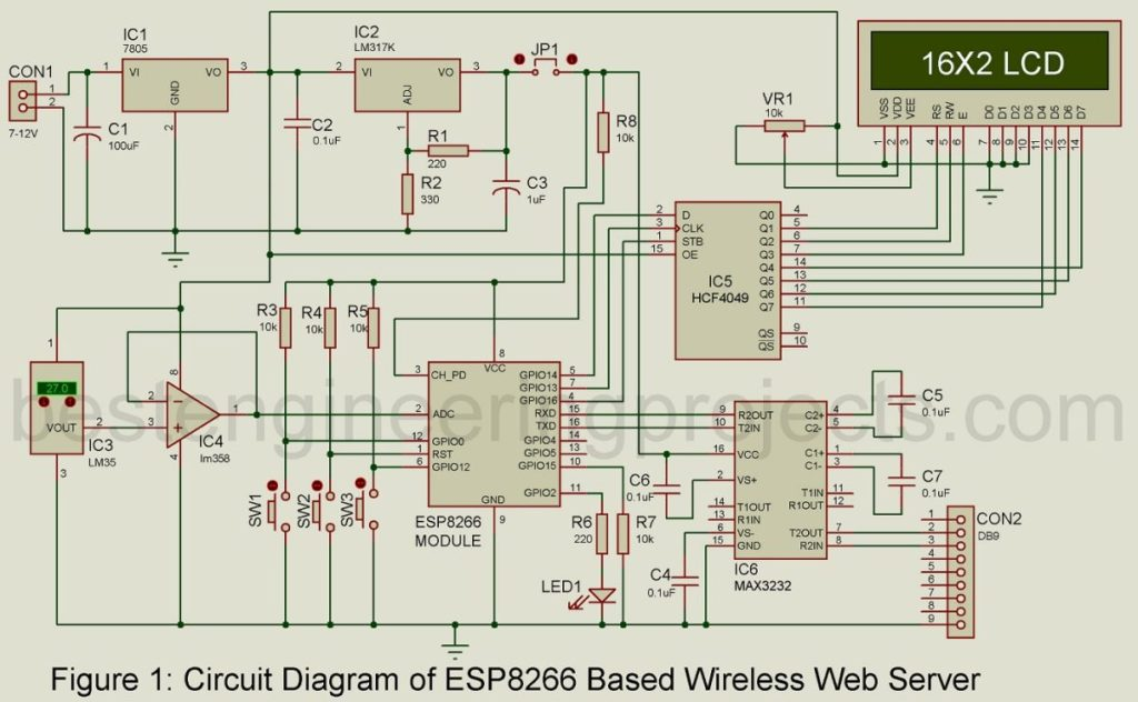 esp8266 based web server circuit