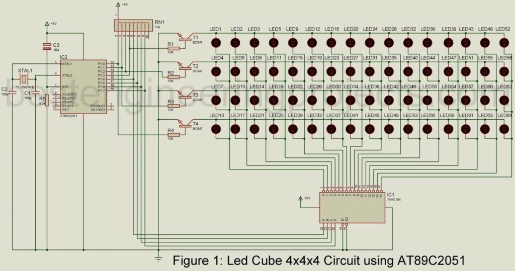 led cube 4x4x4 projects