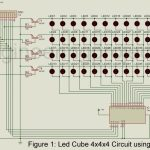 LED Cube 4x4x4 Circuit using AT89C2051
