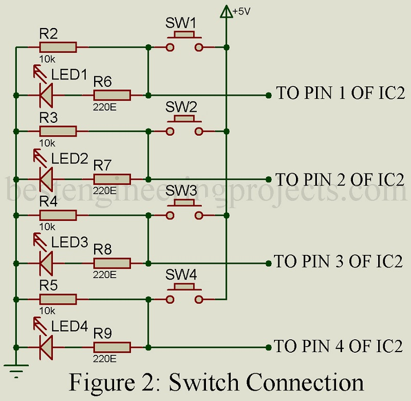 switch connection to microcontroller