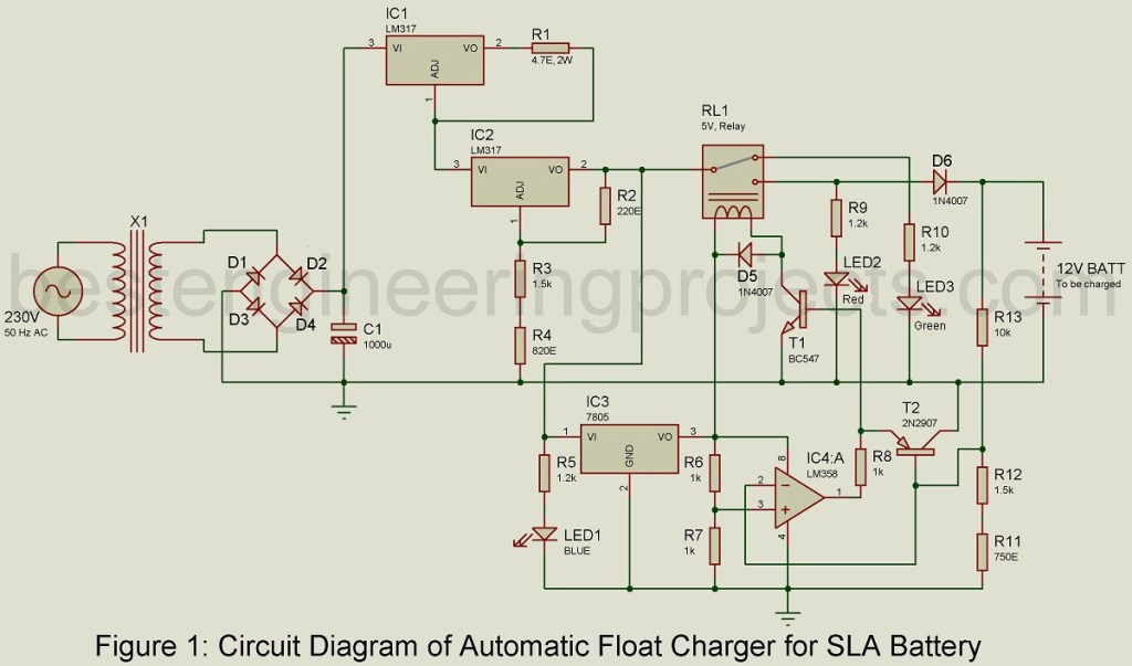 automatic float charging circuit