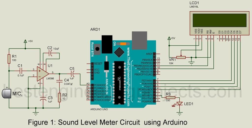 sound meter circuit using arduino