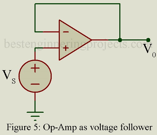voltage follower circuit using op-amp