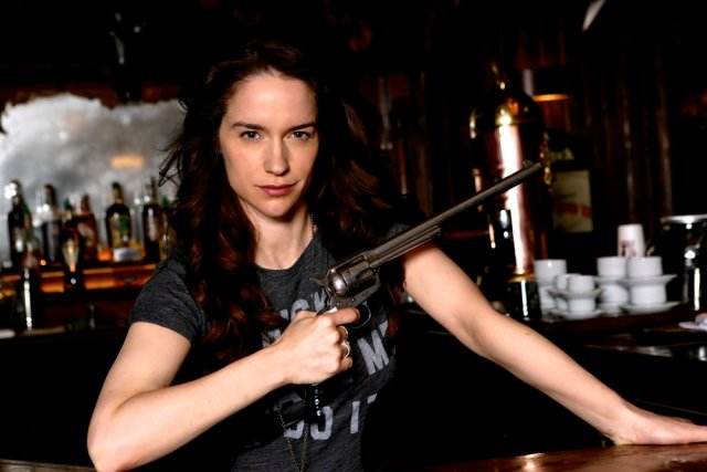 WYNONNA EARP -- Season:2 -- Pictured: Melanie Scrofano as Wynonna Earp -- (Photo by: Michelle Faye/Wynonna Earp Season 2, Inc./Syfy)