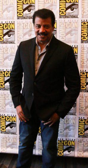 Neil deGrasse Tyson at San Diego Comic Con 2018 | pc: Alyssa Rasmus/Pink Camera Media