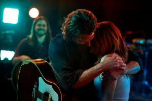 ASIB-SS-PL-00018r Film Name: A STAR IS BORN Copyright: © 2018 WARNER BROS. ENTERTAINMENT INC. AND METRO-GOLDWYN-MAYER PICTURES INC. ALL RIGHTS RESERVED Photo Credit: Peter Lindbergh Caption: (L-R) BRADLEY COOPER as Jack and LADY GAGA as Ally in the drama