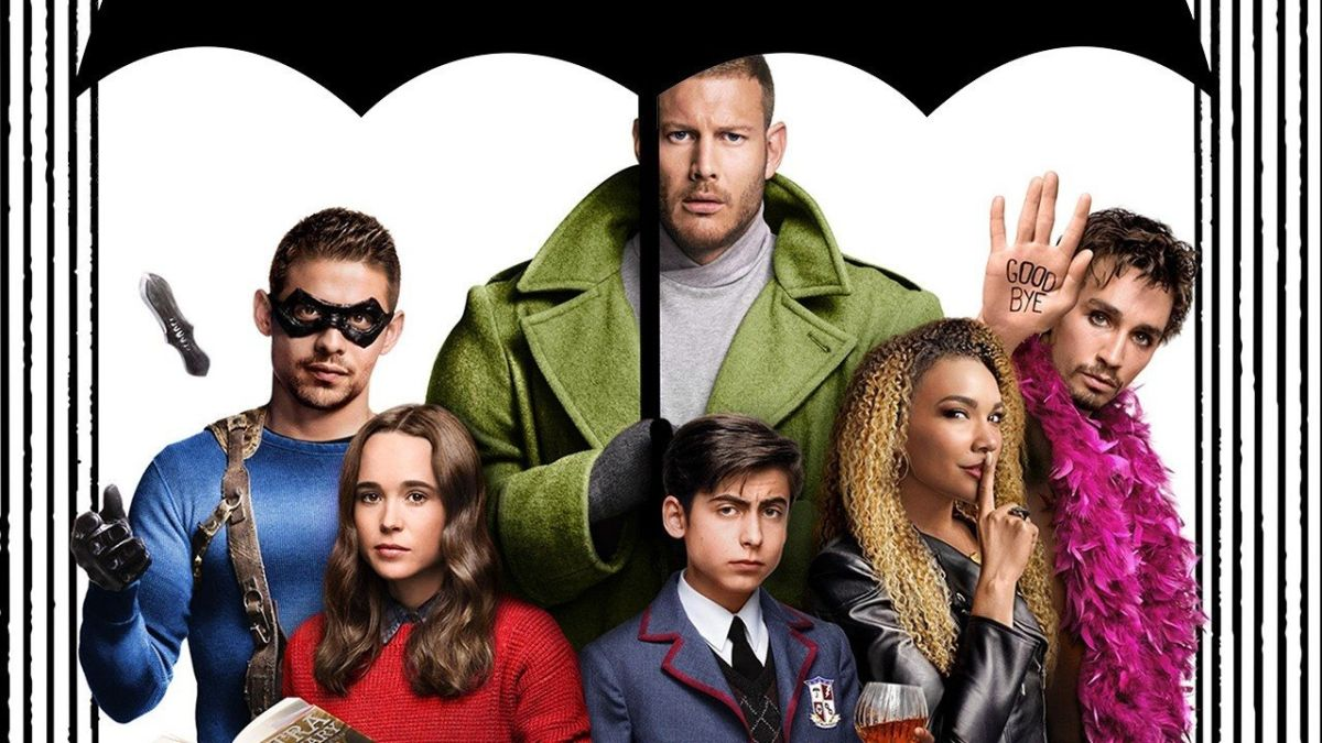 Umbrella Academy poster detail.