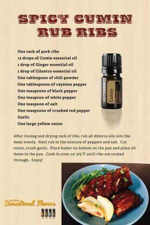 doTERRA Spicy Cumin Rub Ribs Recipe