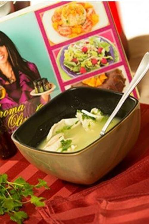 Healing doTERRA Soup with Cilantro and Ginger Recipe Essential Oils doTERRA Essential Oil Lunch and Dinner Recipes