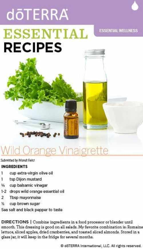 doTERRA Wild Orange Vinaigrette Recipe