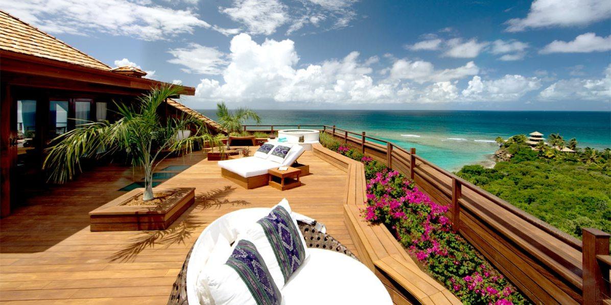 Roof Terrace Venue, Master Bedroom Terrace, Great House Room 7 - 15, Necker Island, British Virgin Islands, Caribbean, Prestigious Venues