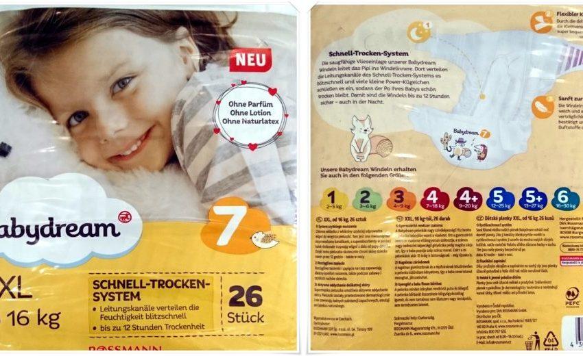 Testpackung Babydream Größe 7 XXL