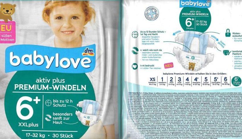 Testpackung Babylove 6+XXL Windeln