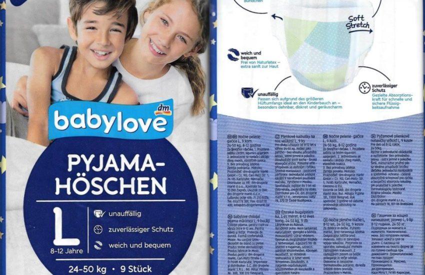 Testpackung Babylove Pyjama-Höschen L 8-12 Jahre