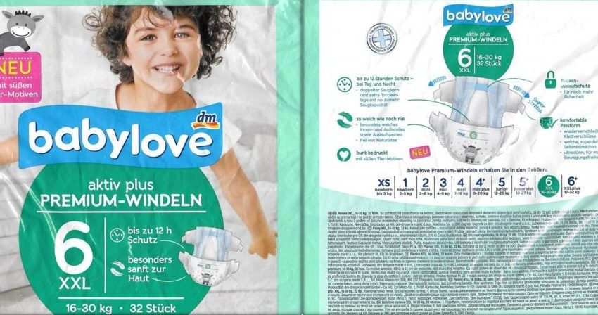 Testpackung Babylove aktiv plus 6 XXL