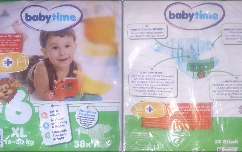 Testpackung Babytime 6 XL Windeln