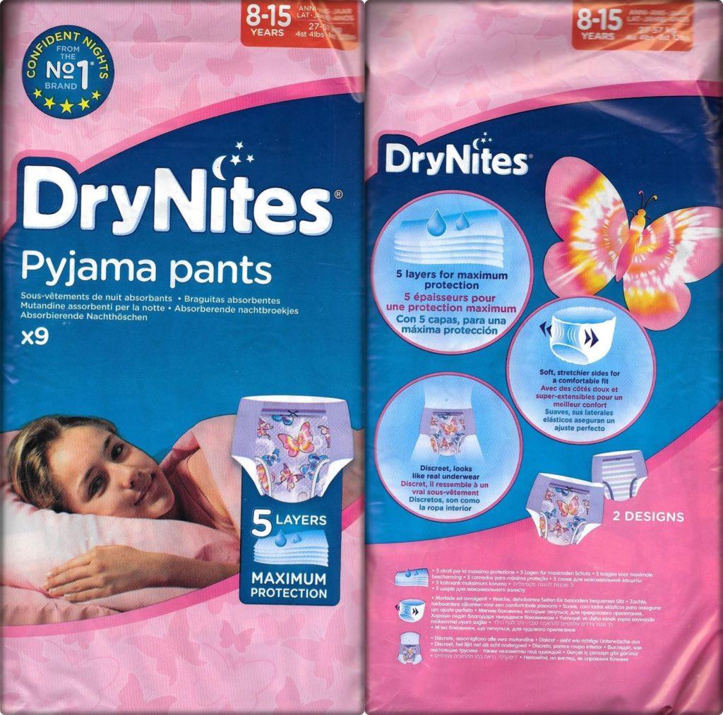 Testpackung DryNites Girls 8-15 Years