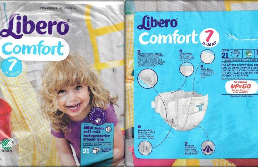 Testpackung Libero Comfort Windeln Größe 7