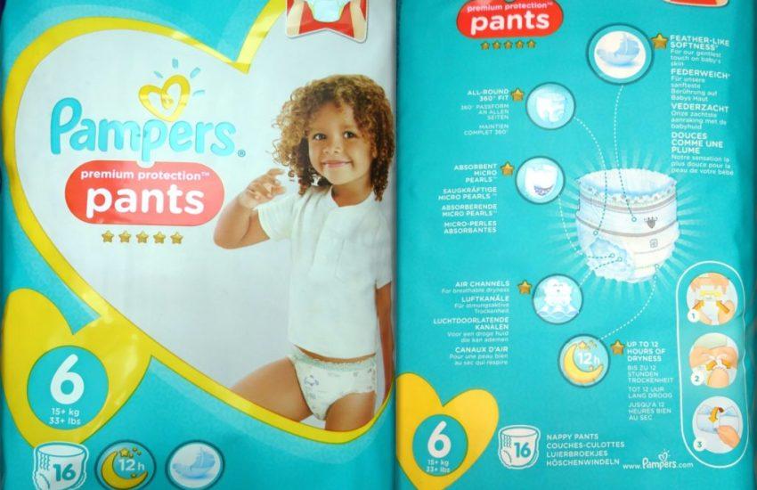 Testpackung Pampers Premium Protection pants Größe 6 Windeln