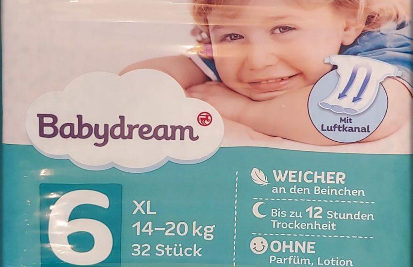 Einzelpackung Babydream Windeln Größe 6 XL Vorderseite