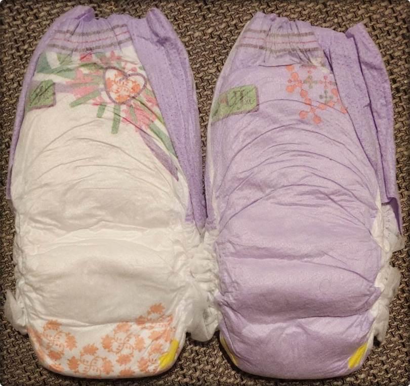 Beide Motive der Pampers UnderJams Pyjama Pants Girls L XL auf der Rückseite