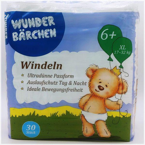 Einzelpackung Wunderbärchen Windeln Größe 6+ XL Cover Vorderseite