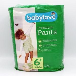 Einzelpackung Vorderseite der Babylove Premium-Pants Größe 6+ XXL plus