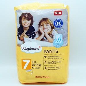 Einzelpackung Vorderseite der Babydream Pants Größe 7 XXL