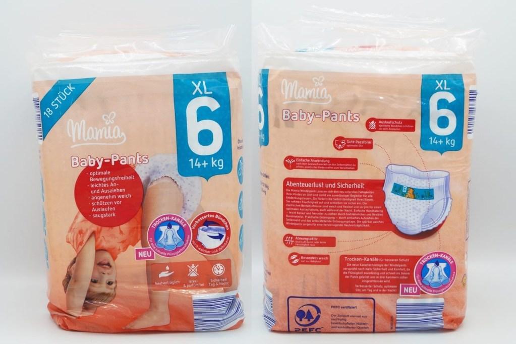 Cover der Mamia Baby-Pants Größe 6 XL