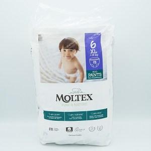 Einzelpackung Vorderseite der Moltex Pure & Nature Pants Gr. 6 XL