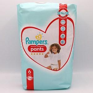 Einzelpackung Vorderseite der Pampers Pants 6 Premium Protection im Test