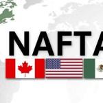 NAFTA Logo, Canadian Flag, U.S. Flag, Mexican Flag
