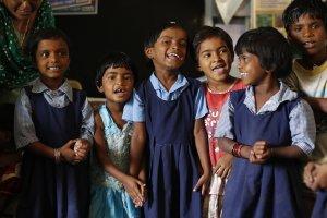 India school children