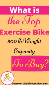 For Exercise Bike 300 lb weight capacity