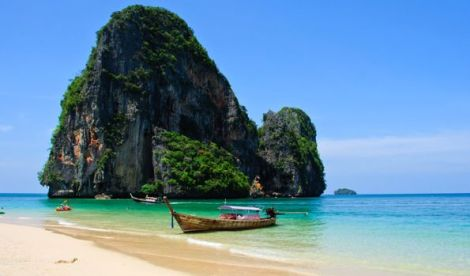 Phra Nang Beach in Krabi, Thailand.