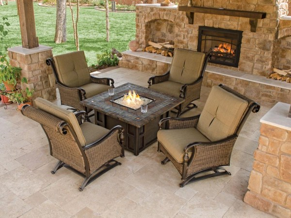 outdoor patio furniture with fire pit Outdoor Furniture With Fire Pit Table   Fire Pit Design Ideas