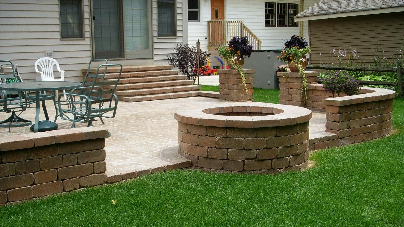 Brick Fire Pit Ideas That You Already Knew   Fire Pit ... on Paver Patio Designs With Fire Pit id=37767