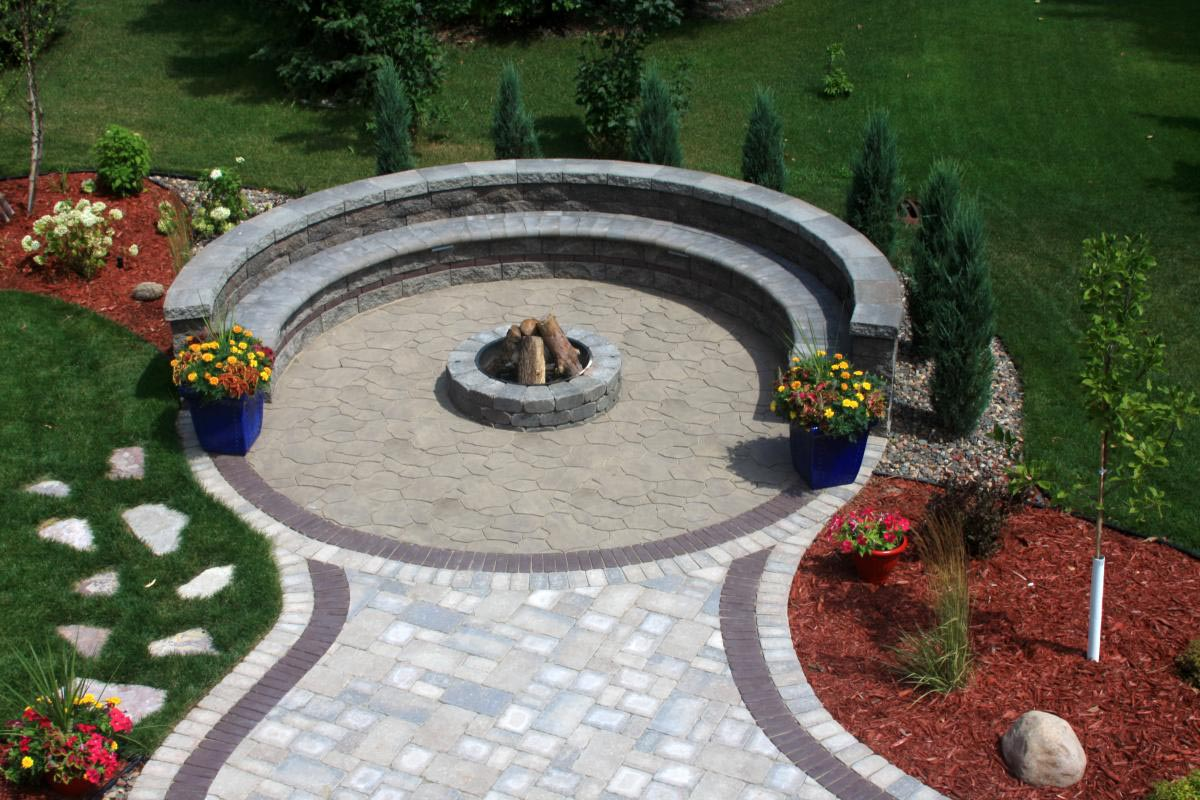 Does the Pavement Needs Paver Fire Pit? | Fire Pit Design ... on Pavers Patio With Fire Pit id=44598