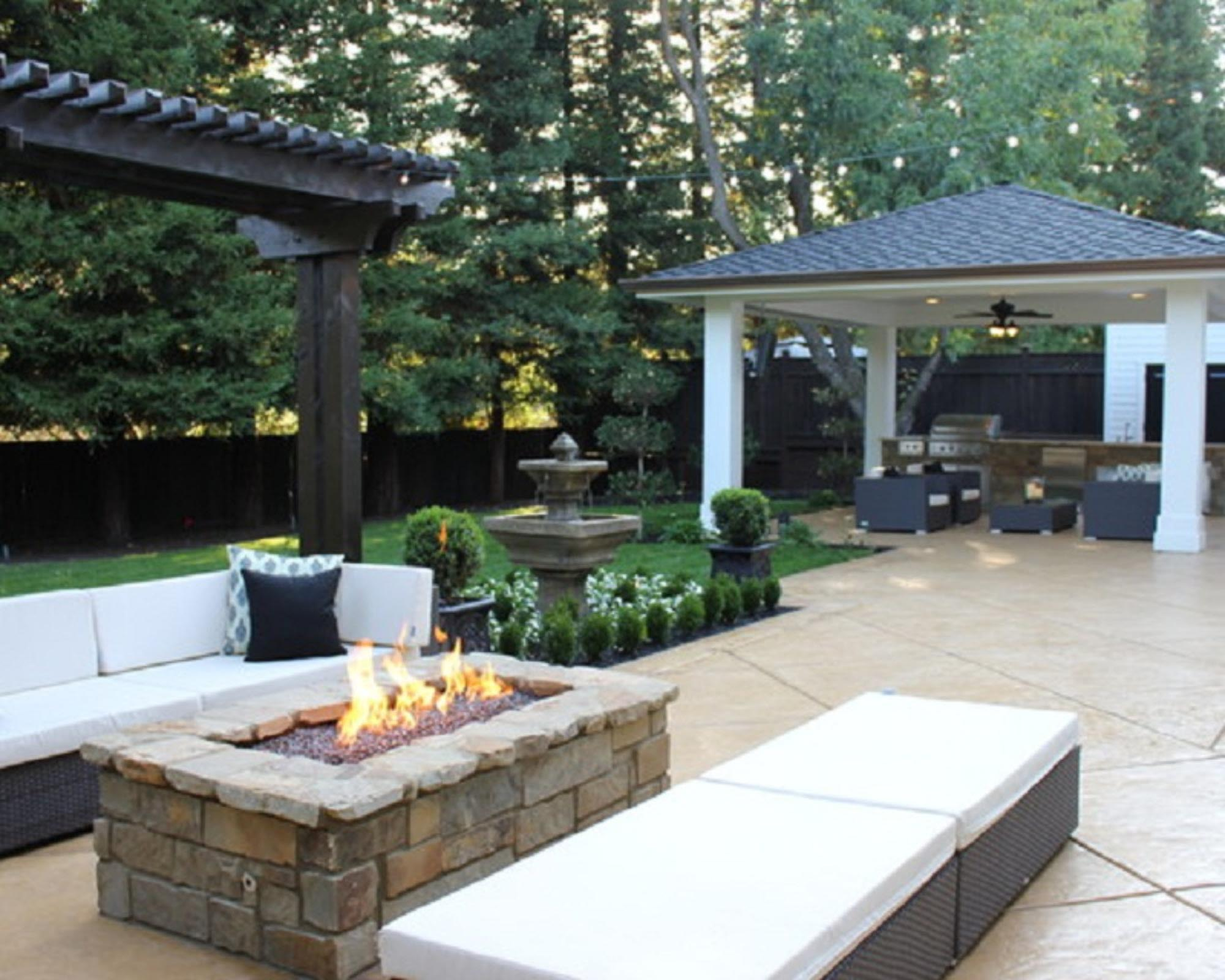 Modern Fire Pit in Your Garden | Fire Pit Design Ideas on Garden Ideas With Fire Pit id=44775