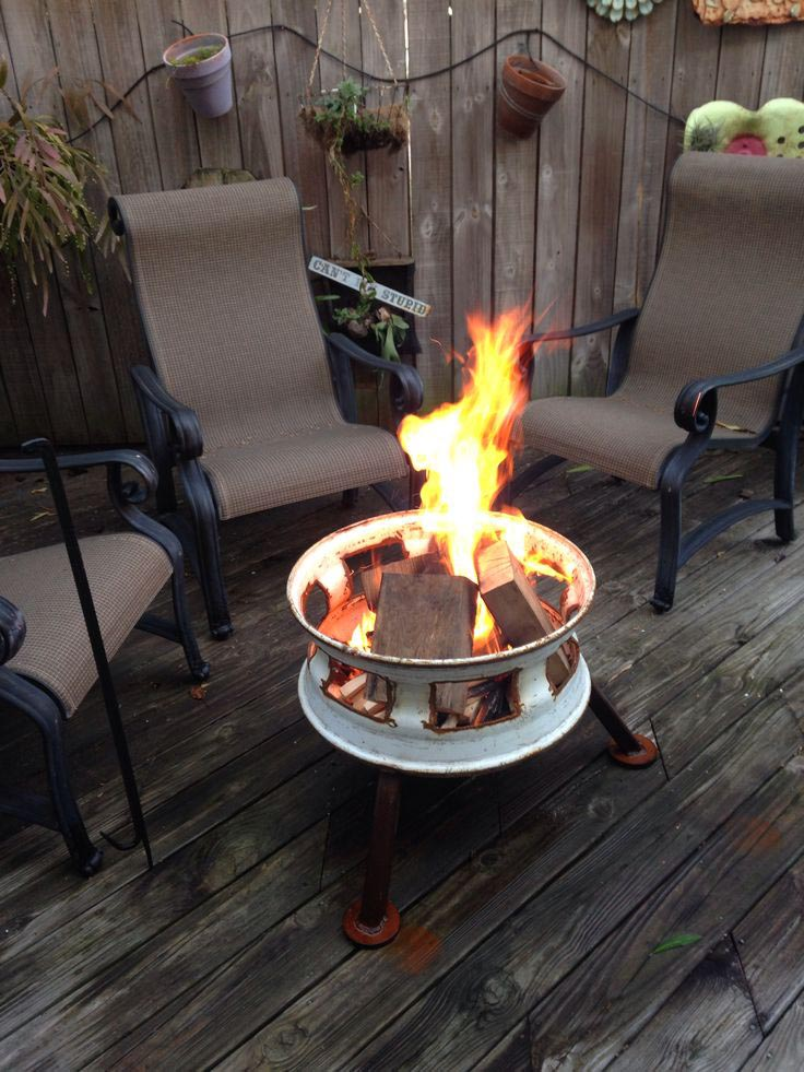 Rim Fire Pit New Life Of Junk Fire Pit Design Ideas