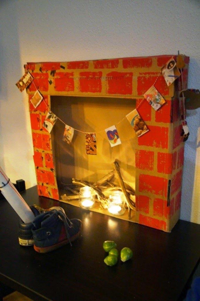Fake Brick Fireplace Paper